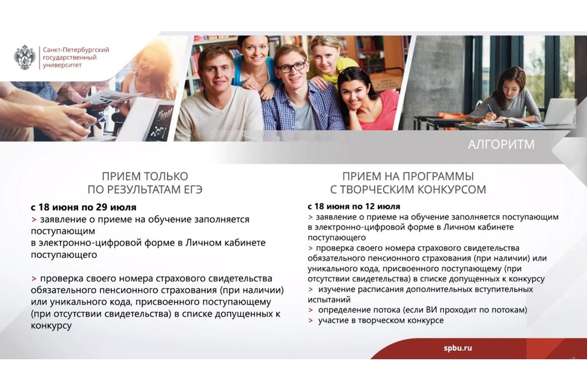 Абитуриентам СПбГУ рассказали об изменениях в правилах приема в 2021 году