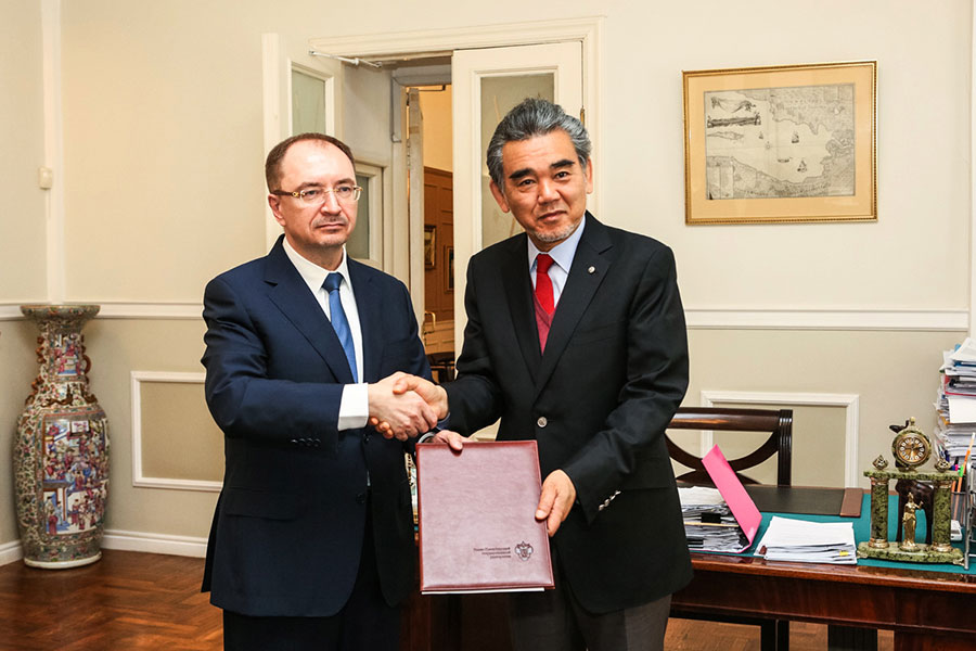 St Petersburg University has signed a cooperation agreement with Hiroshima University
