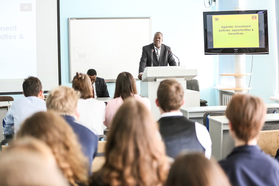 Johnson Agara Olwa, the Ambassador of the Republic of Uganda, has visited the University