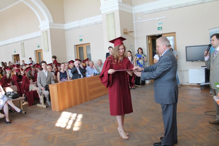 Вручение дипломов в 2013 г.